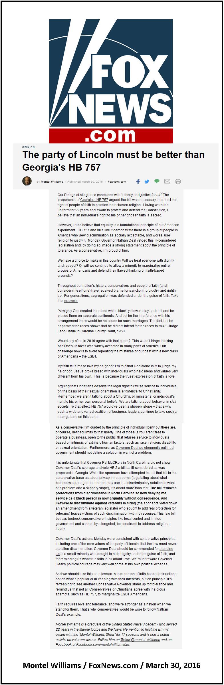 Montel Williams - Fox News - LGBTQ Op-Ed   Lucid Public